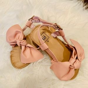 Bow Faux-Leather sandals